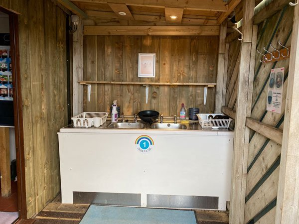Washing up bay at Clachtoll Campsite